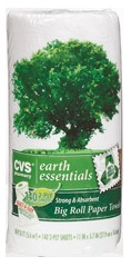 CVS Earth Essentials 100% recycled fiber paper towels