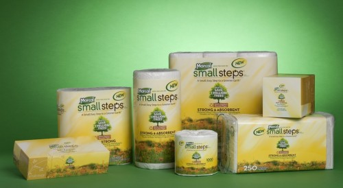 Marcal Earth Essentials line of household products made from recycled paper