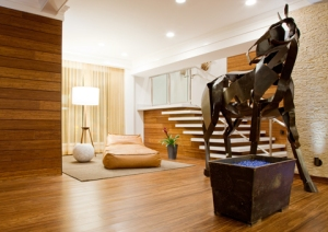 Bamboo-filled lobby at Hutton Hotel (photo via hotel website)