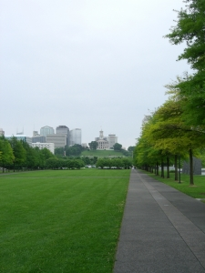 View of Tennessee State Capitol from Nashville's new Bicentennial Capitol Mall State Park
