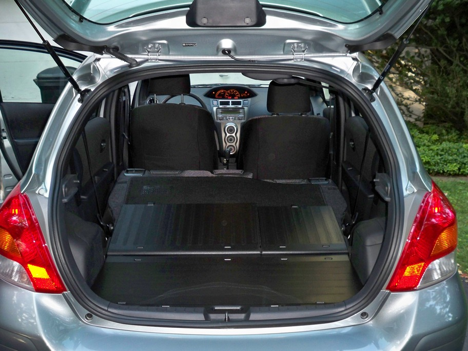 Lots Of Cargo Space In The Yaris With Back Seats Folded