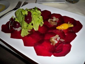 Delish beet salad @ Black Cat Farm Table Bistro in Boulder (photo by Aaron Dalton)