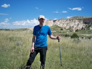 Your intrepid editor hiking the Pawnee Buttes on the Pawnee National Grassland