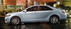 To the casual observer, it's just a stylish sedan. But we know this 2010 Toyota Camry is a hybrid. (photo via Toyota.com)