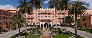 The very beautiful, very pink Boca Raton Resort & Club (photo via resort website)